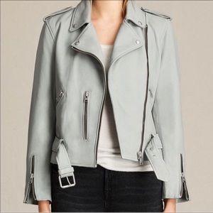 NWT AllSaints Balfern Leather Biker Jacket Sz 6